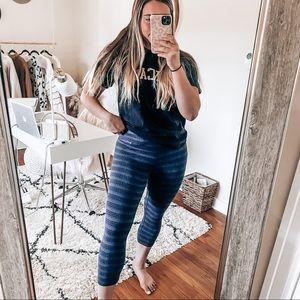 Nike blue and black leggings